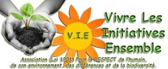 logo association V.I.E, vivre les initiatives ensemble, solidarité et respect  aux handicapés